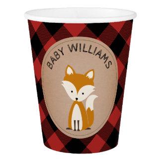 Buffalo Plaid Baby Fox Baby Shower Cup