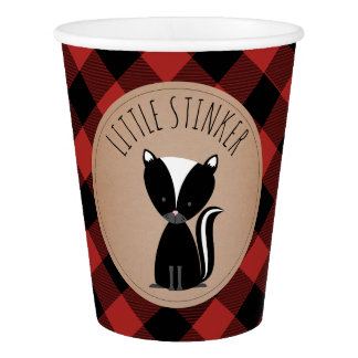 Buffalo Plaid Baby Skunk Baby Shower Cup