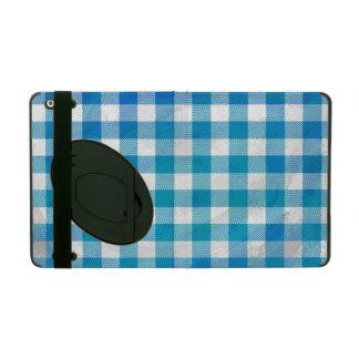 Buffalo Plaid Blue and White Cases For iPad