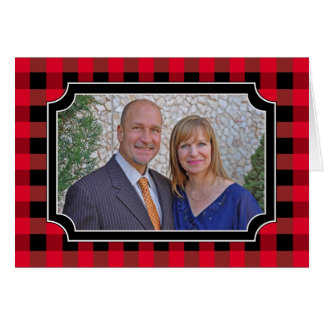 Buffalo plaid card