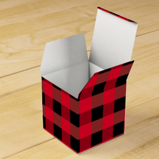 Buffalo plaid favor box