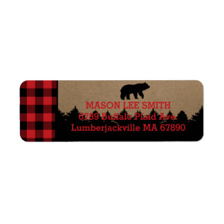 Buffalo Plaid Lumberjack Return Address Labels