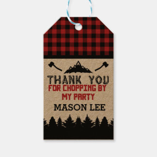 Buffalo Plaid Lumberjack Thank You Favor Tag Pack Of Gift Tags