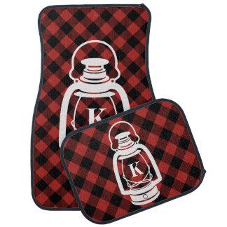 Buffalo Plaid Monogram Oil Lantern Car Floor Carpet
