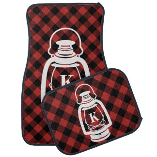 Buffalo Plaid Monogram Oil Lantern Car Mat