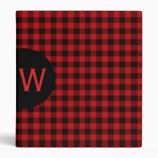 Buffalo Plaid Monogrammed Binder