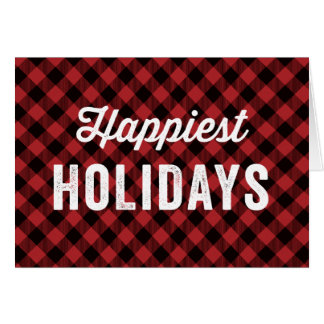Buffalo Plaid Non-Photo | Holiday Greeting Card