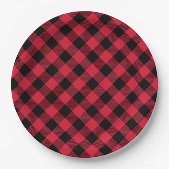 Buffalo Plaid Paper Plate 9 Inch Paper Plate