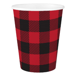 Buffalo Plaid Party Cups
