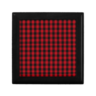 Buffalo Plaid Pattern in Red and Black Gift Box