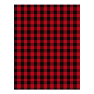 Buffalo Plaid Pattern in Red and Black Letterhead