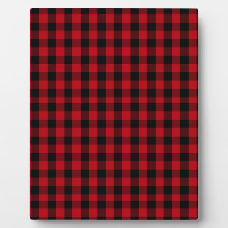 Buffalo Plaid Pattern in Red and Black Plaque