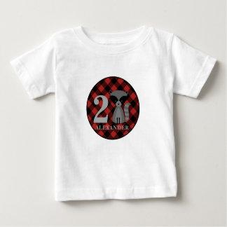 Buffalo Plaid Raccoon Birthday Shirt