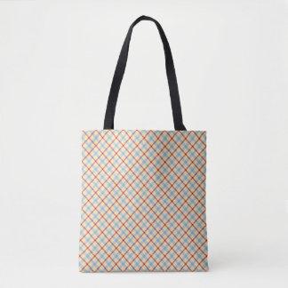 Buffalo plaid, scottish tartan pattern yellow blue tote bag