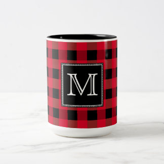 Buffalo plaid Two-Tone coffee mug