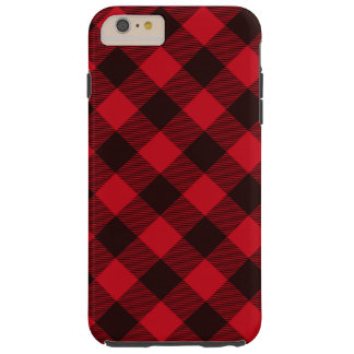 Buffalo Red and Black Plaid Check Lumberjack Tough iPhone 6 Plus Case