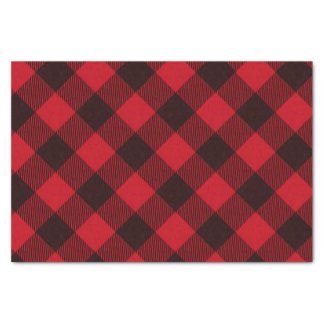 Buffalo Red and Black Plaid Christmas Tissue Paper