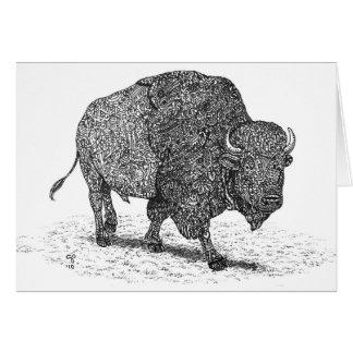 Buffalo Roaming Note Card