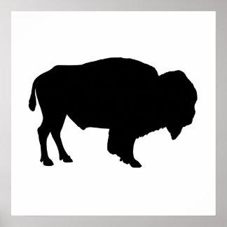 Buffalo Silhouette Poster