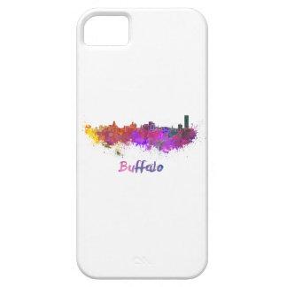 Buffalo skyline in watercolor iPhone 5 case