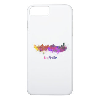 Buffalo skyline in watercolor iPhone 8 plus/7 plus case