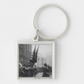 Buffalo Soldiers Returning Colors - 1919 Keychain