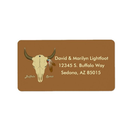 Buffalo Spirit Address Label