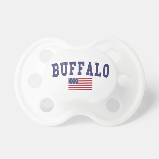 Buffalo US Flag Baby Pacifiers