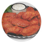 Buffalo wings with blue cheese plate