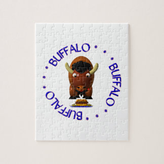 Buffalo with Beef on Weck and Buffalo Wings Jigsaw Puzzle