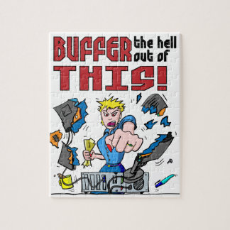 Buffer that! Computer Rage Jigsaw Puzzle