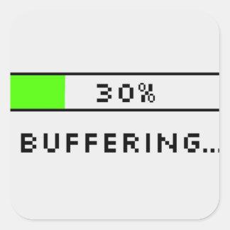 Buffering Square Sticker