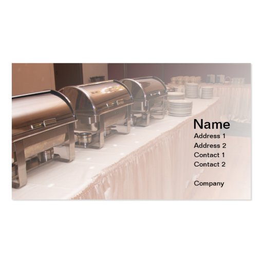 buffet table business card