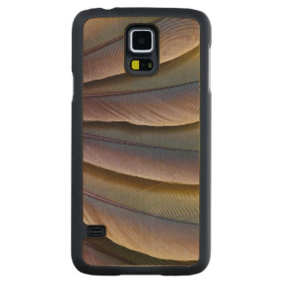 Buffon'S Macaw Feather Design Carved Maple Galaxy S5 Case