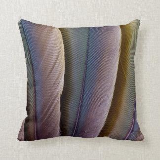 Buffon'S Macaw Feather Design Throw Pillow