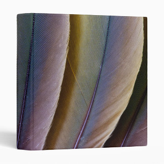 Buffon'S Macaw Feather Design Vinyl Binders