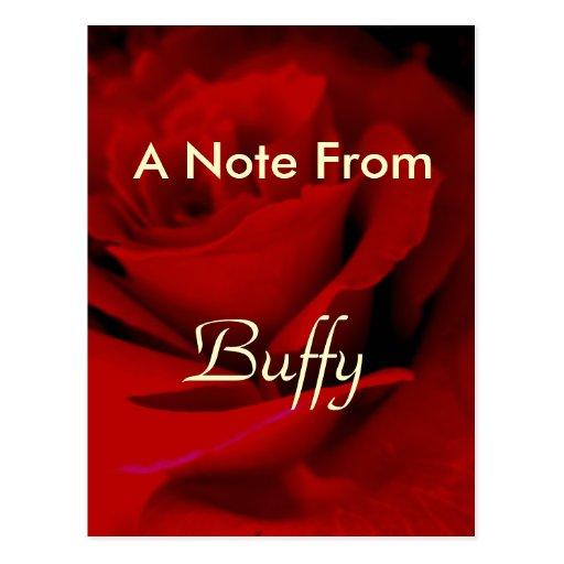 Buffy Post Card