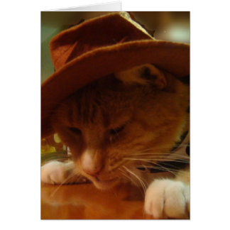 Buffy the Cowgirl Cat Greeting Card
