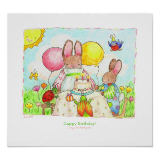 bug and bunny birthday party print