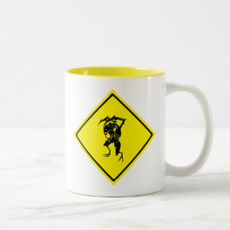 Bug Crossing Two-Tone Coffee Mug