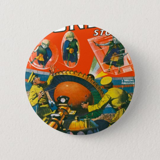 Bug Eyed Aliens in Capes 2 Inch Round Button