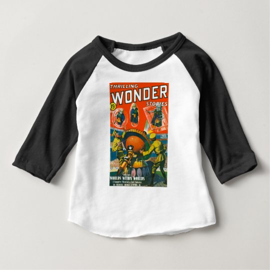 Bug Eyed Aliens in Capes Baby T-Shirt