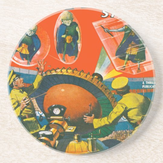 Bug Eyed Aliens in Capes Coaster