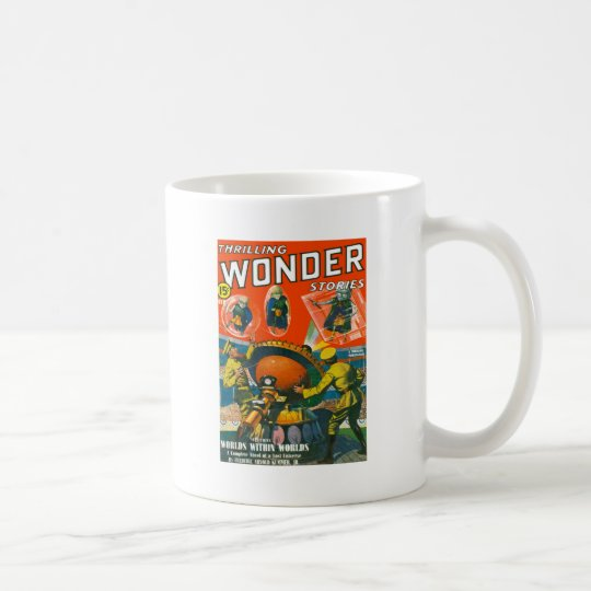 Bug Eyed Aliens in Capes Coffee Mug