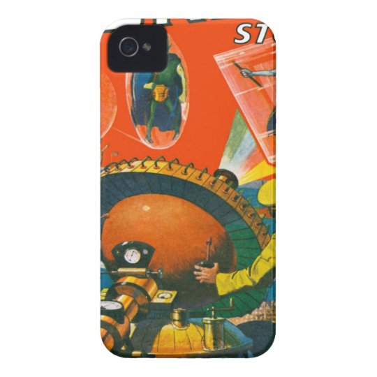 Bug Eyed Aliens in Capes iPhone 4 Cases
