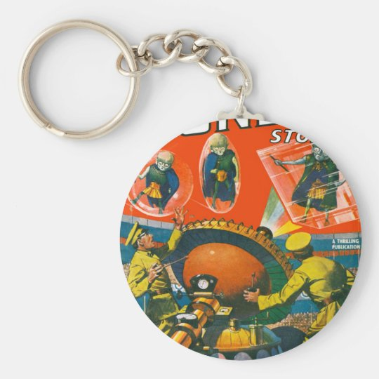 Bug Eyed Aliens in Capes Keychain