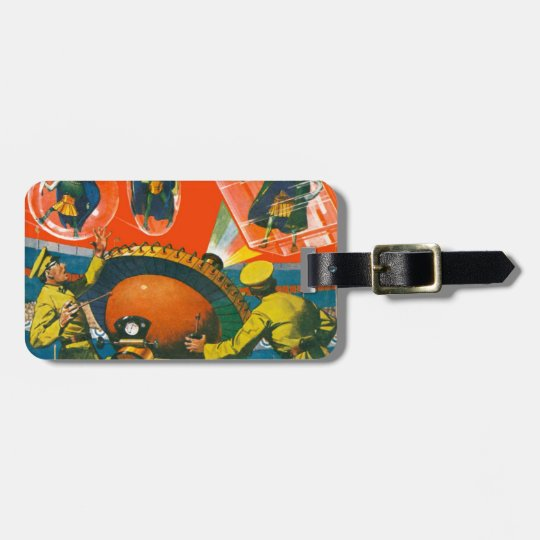 Bug Eyed Aliens in Capes Luggage Tag