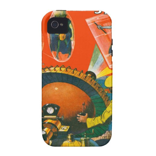 Bug Eyed Aliens in Capes Vibe iPhone 4 Cases