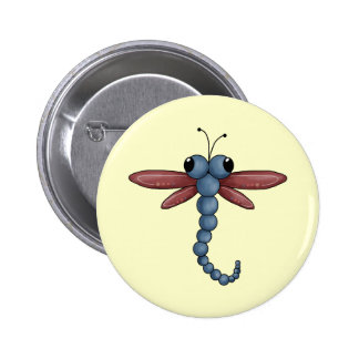 Bug-eyed Dragonfly 2 Inch Round Button