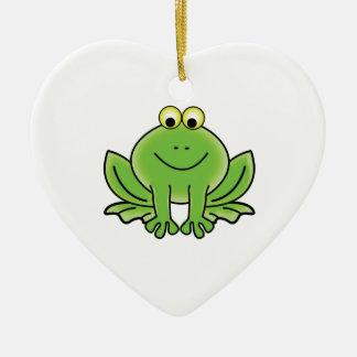 bug eyed frog ceramic ornament